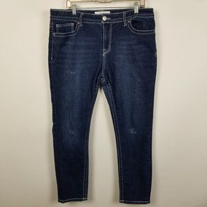 VGS Vigoss Skinny Distressed Dark Wash Womens 14